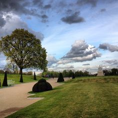 Looking over the Kensington Gardens from the palace.