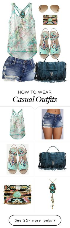 """Casual"" by alice-fortuna on Polyvore featuring prAna, Ray-Ban and Proenza Schouler"