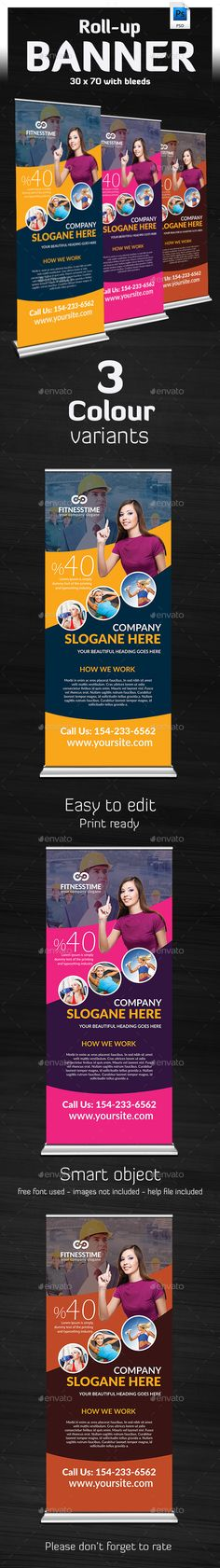 Takatuka - Business Roll Up Banner Template #design Download: http://graphicriver.net/item/takatuka-business-roll-up-banner-/13125094?ref=ksioks