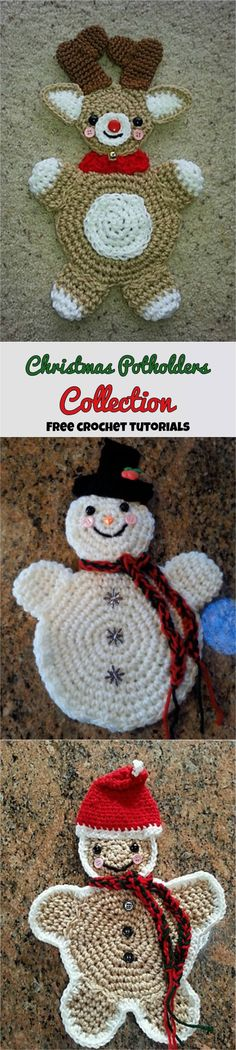 Christmas Potholders Collection – Late Night Crafting
