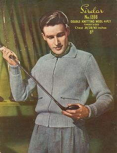 Sirdar 1398 Vintage Knitting Pattern Man's by vintagemadamedefarge, $2.00