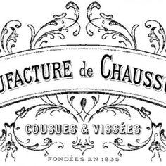 French Shoe Factory Transfer – Gorgeous!!