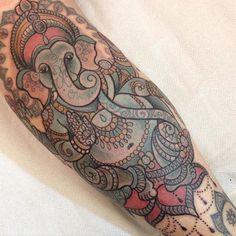 """Ganesha tattoo by Dawnii Fantana. <a href=""""/p/?q=Disney&hashtag_id=335"""">#Disney</a> <a href=""""/p/?q=cute&hashtag_id=3482"""">#cute</a> <a href=""""/p/?q=girly&hashtag_id=1297"""">#girly</a> <a href=""""/p/?q=kawaii&hashtag_id=7362"""">#kawaii</a> <a href=""""/p/?q=ganesha"""">#ganesha</a> <a href=""""/p/?q=elephant"""">#elephant</a>"""