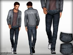 My Second Male Jean.  Found in TSR Category 'Sims 3 Male Clothing'