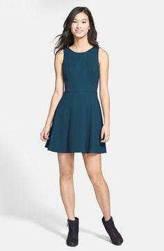 Bebop Contrast Trim Print Woven Dress Juniors Available At