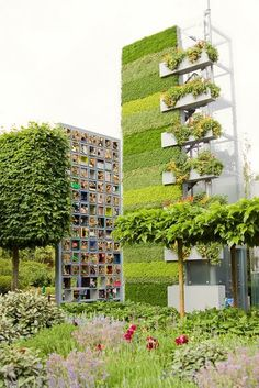 A vertical garden won the gold medal in the 2011 Chelsea Flower Show in London.