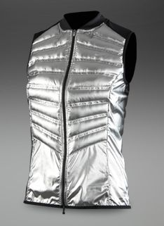 fb62b99c339d Nike Womens Aeroloft 800 Vest - Womens Running Clothing - Metallic Silver  Reflective Silver Running Clothing