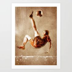 Buy Football player sport art #football #soccer Art Print by jbjart. Worldwide shipping available at Society6.com. Just one of millions of high quality products available. Soccer Art, Football Soccer, Football Players, Sports Art, Meet The Artist, Buy Frames, Gallery Wall, Art Prints, Artwork