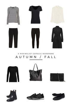 A minimalist Autumn / Fall capsule wardrobe. These are the 12 pieces I will be using to create my outfits for Fall in 2017.