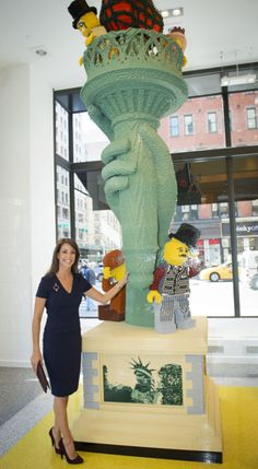 hrhbekarie:  Princess Marie opened a new Lego store during her recent visit to New York City, September 26, 2014