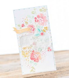 Hello Sunshine - Faux Embroidery with Embossing Paste - Paper Girl Crafts