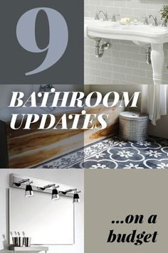 9 Best Bathroom Updates on a Budget    Updating your bathroom needn't be costly, time consuming or a real effort.  Whether you want to achieve a spa-like ambience or a practical bathroom that suits the whole family, these nine ideas will have you well on the way to making your space work harder, as well as looking pretty damn good too…