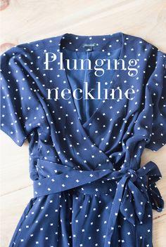 do it yourself divas: DIY Wrap Dress Alteration - Plunging Neckline