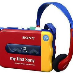 My First Sony Walkman! Cassette Recorder, Tape Recorder, Playstation 2, Radios, Sony, Hi Fi System, Kids Luggage, Record Players, Audio Player