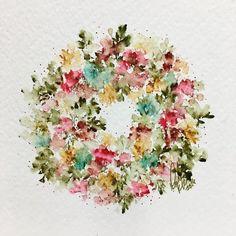 Fall wreath!!  #watercolour #artimpressions #watercolor #watercolortheartimpressionsway #wreath