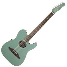 Green Fender Acoustic Guitar | Fender Telecoustic Plus Electro Acoustic Guitar Sherwood Green