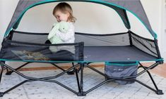 Baby Delight Go with Me Bungalow Deluxe Portable Travel Cot | Best Tent Cots for Camping Family Camping, Tent Camping, Folding Canopy, Tent Cot, Best And Less, Travel Cot, Go With Me, Cool Tents, Camping Items