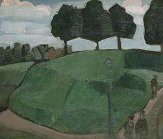"Jean Brusselmans (Belgian, 1884-1953), Le ""Berg"" à Dilbeek [The ""Mountain"" in Dilbeek]. Oil on canvas, 56 x 65 cm."