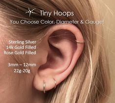 3mm Fresh Water Pearl Tragus Stud Nose Ring Nose Piercing 20g Gold Nose Stud Cartilage Hoop Tragus Jewelry Helix Earring Stud