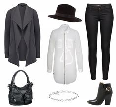 #Herbstoutfit Black and white ♥ #outfit #Damenoutfit #outfitdestages #dresslove