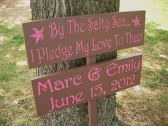 Directional Wedding Signs BEACH WEDDING Sign Set by AndTheSignSays