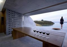 Spectacular Wiroa Station Wine Cellar by MAP Architects