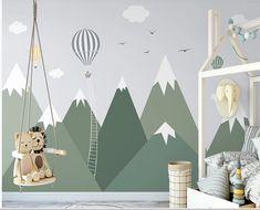 Kids Wall Murals, Nursery Wall Murals, Nursery Room, Boy Room, Child Room, Childrens Wall Murals, Wall Art, Mountain Mural, Mountain Nursery
