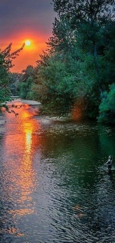 The beautiful Boise River in Idaho