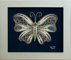 Филигран од срма-Пеперутка(мотив 12)34x27x1 - eKupi.mk - Вашата интернет продавница