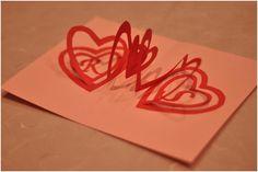 Spiral Heart Pop Up Card | Creative Pop Up Cards