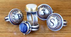 The Bold and the Beautiful!  Our original ring designs are made with Kyanite, Gold, Pearl Coins,  Sterling Silver, Barber Quarters, Copper and more! The craftsmanship and attention to detail is so apparent in every design. Enjoy!