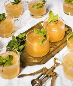 Minty Moscow Mule Punch   http://RealSimple.com