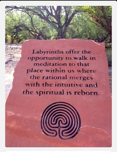 The benefits of Labyrinths. www.facebook.com/loveswish-walked a small one I loved it.