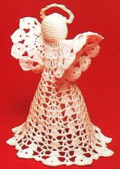 Angel Ornaments and Tree Topper ePattern for thread crochet $2.99 on Leisure Arts at  http://www.leisurearts.com/products/angel-ornaments-tree-topper-digital-download.html