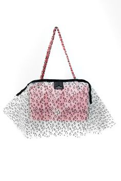 Raindrop Print Handbag Raincoat with scalloped bottom, because rain should never rule your style.
