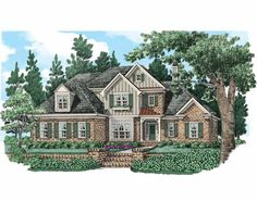 New American House Plan with 3693 Square Feet and 4 Bedrooms from Dream Home Source | House Plan Code DHSW74158