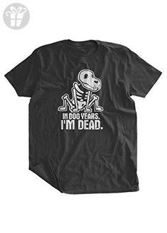 BumpCovers In Dog Years I'm Dead Birthday T-Shirt lg Black - Birthday shirts (*Amazon Partner-Link)