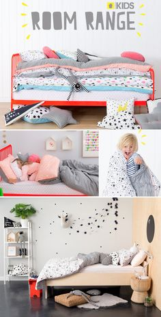 Love the quirky range of linen from cotton on kids. Would love it even more if there was chevron but I think he would be impressed with one of these. Big Girl Rooms, Boy Room, Kids Rooms, Baby Bedroom, Girls Bedroom, Diy Bett, Deco Kids, Bed Linen Design, Kids Room Design