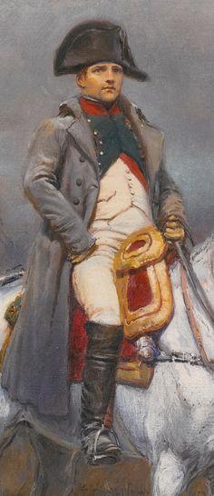 "fapoleon-bonerparte: "" Detail from Edouard Detaille's Napoleon on Horseback (x) """