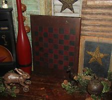 Primitive 1800s Antique Vtg Wood Hand Made Checkers Game Board Gameboard