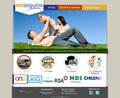 Maqueta de Sitio Web para MiSeguros