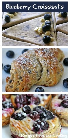 Blueberry and White Chocolate Croissants Blueberry and White Chocolate Croissants are made using a blueberry butter and rolling it into the pastry. Blueberry Croissant Pastries are a quick shortcut, perfect for feeding a crowd. #freshfromflorida