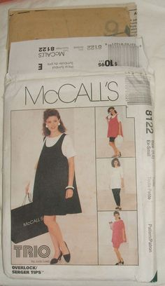 #McCalls Sewing #Pattern 8122 #Maternity #Dress Tank Top #Pants #Shorts #Skirt Misses Size 4 6 Trio Judy Loeb Design #DIY Womens Clothing #Fashion by ManHoard
