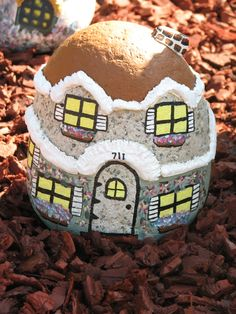 rock painted house
