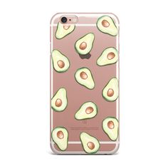 Avocados iPhone Case Clear Transparent Avocado Phone by KYOUSTUFF