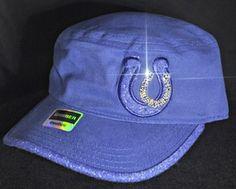 Indianapolis Colts Swarovski Rhinestone Bling Cadet Hat  www.babywantsbling.com be91ef6cd875