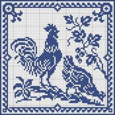 chicken, goose, rooster, turkey, farm chart cross-stitch or filet crochet – BuzzTMZ Cross Stitch Bird, Beaded Cross Stitch, Crochet Cross, Cross Stitch Samplers, Cross Stitch Animals, Cross Stitch Charts, Cross Stitch Designs, Cross Stitching, Cross Stitch Embroidery