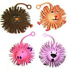 Flashing LED Puffer Animal - Pig, Rabbit, Lion or Sheep (One Supplied)