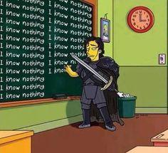 No sabes nada Jon Nieve