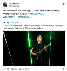 You wouldn't know it from any western mass media reporting as of this writing, but musician Roger Waters Chelsea Manning, Richard Branson, Slogan About Freedom, Wish You Are Here, Told You So, Military Intervention, Cool Slogans, Actions Speak Louder, British Home